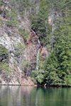 Little Laurel Branch Falls on Wilbur Lake