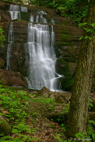 Bays Mountain Falls near Laurel Run Park in Hawkins County, Tennessee