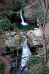 Lower set of waterfalls at Blue Hole Falls