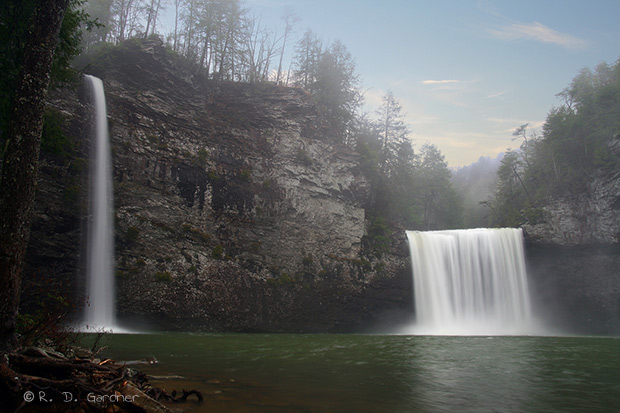 Cane Creek Falls in Tennessee