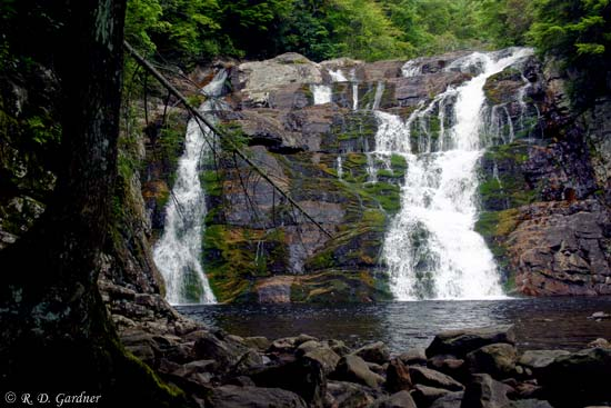 Laurel Falls in Dennis Cove on the Appalachian Trail