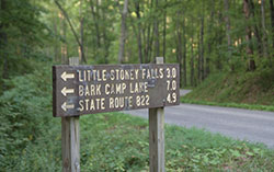 First sign for Little Stoney Falls