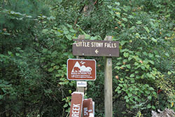 2nd sign for Little Stoney Falls