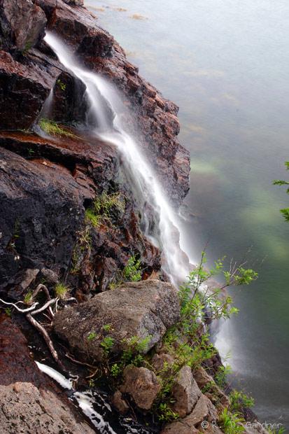 Man o'War Brook Falls in Acadia National Park