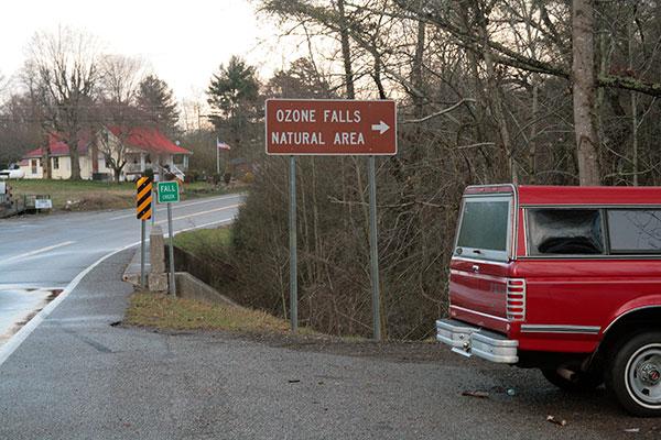 Ozone Falls parking area