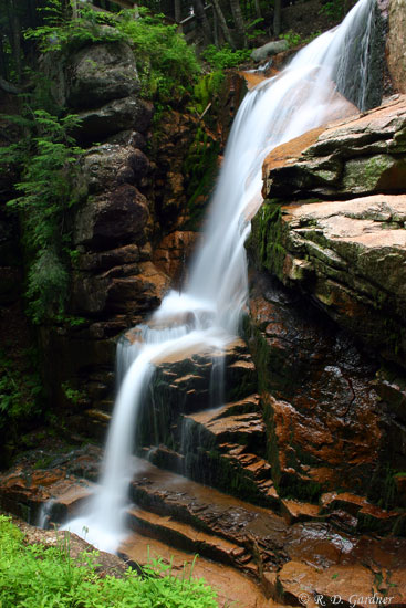 Avalanche Falls In Flume Gorge Grafton County New Hampshire