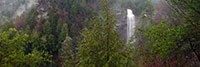 Panoramic view of Fall Creek Falls