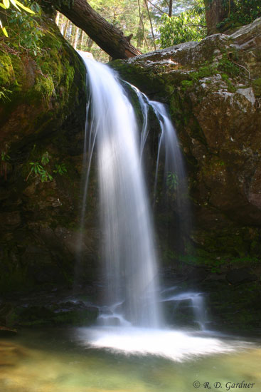 Grotto Falls on the Roaring Fork Motor Nature Trail