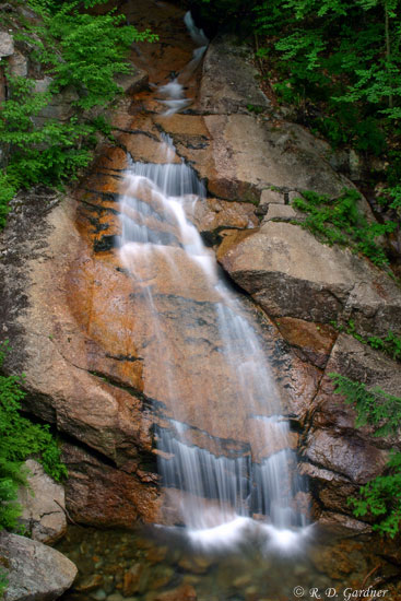 Liberty Gorge Cascade in Franconia Notch State Park