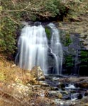 Roadside view of Meigs Falls
