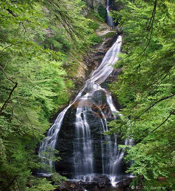Moss Glen Falls near Stowe, Vermont