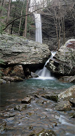 A panoramic view of Ozone Falls