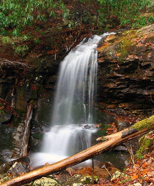 Pine Ridge Falls in Unicoi Co., TN