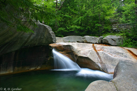 The Basin in Fanconia Notch State Park