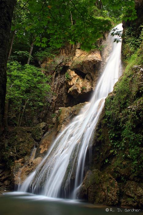 Closeup of Fall Branch Falls