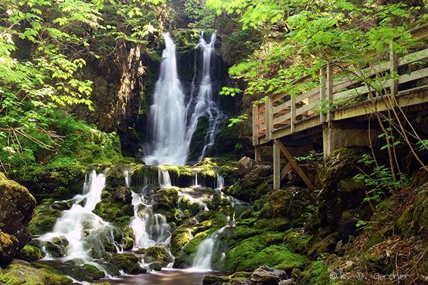 Dickson Falls near Alma, New Brunswick, Canada