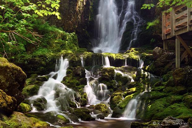 Dickson Falls near W. Paris, Maine