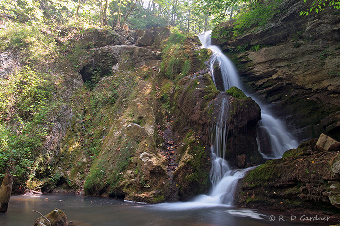 Wide view of Fall Creek Falls