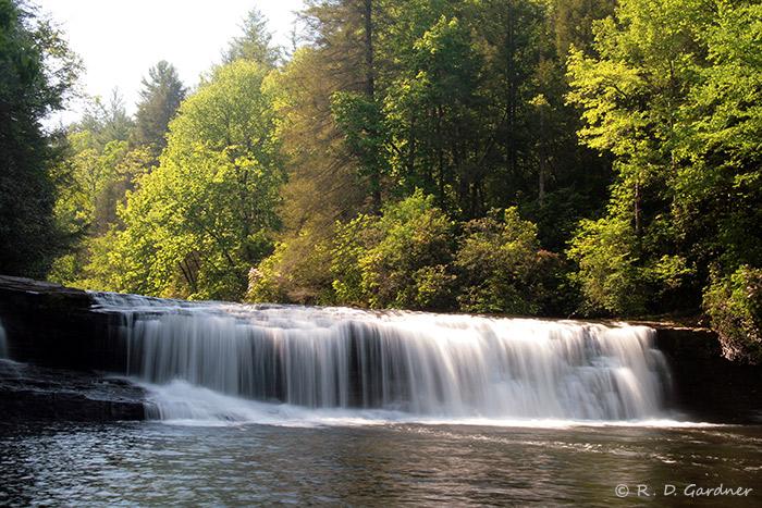 Downstream View of Hooker Falls