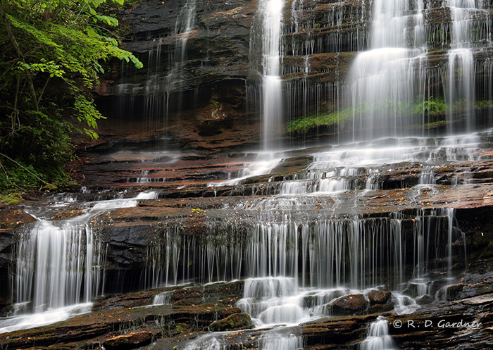 Closeup view of Pearson's Falls