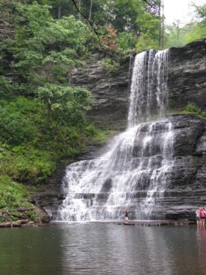 Cascades Falls in Summer