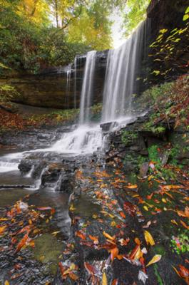 Devil Creek Falls in the Fall