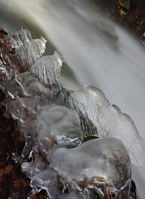 a detail from the lower falls of Dick's Creek