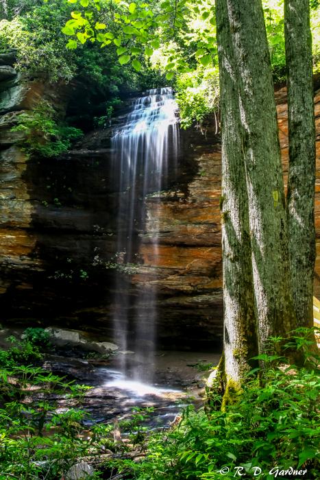 Moore Cove Falls near Brevard, NC