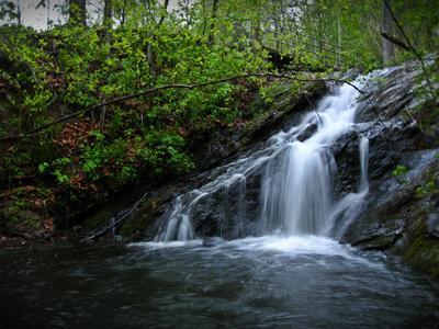 Lynchburg's very own waterfall, Opossum Creek Falls